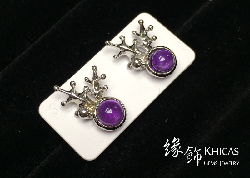 紫水晶 鹿角耳環 Amethyst Earrings EA160156 @ Khicas Gems 緣飾