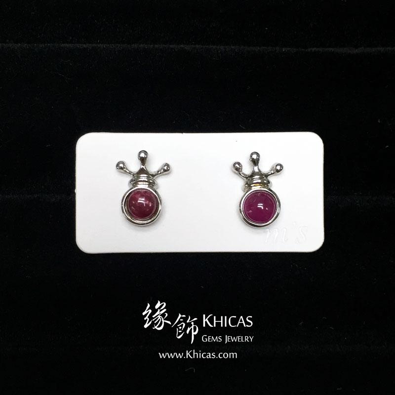 紅寶石 王冠耳環 Ruby Earrings EA160157 @ Khicas Gems 緣飾