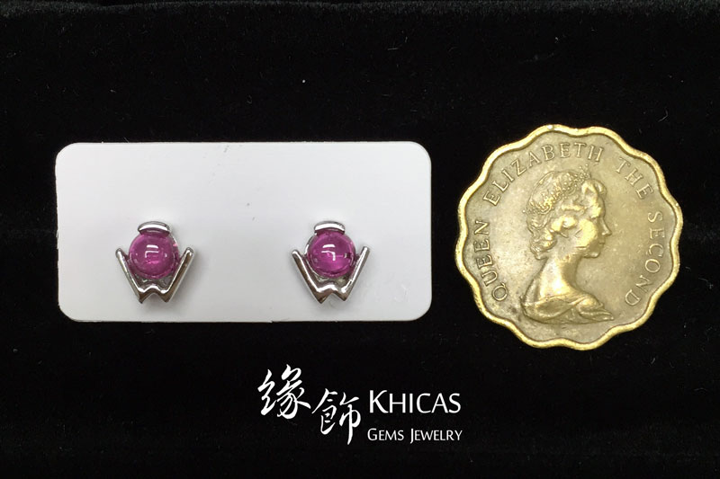 紅碧璽 W形耳環 Rubellite Red Tourmaline Earrings EA160161 @ Khicas Gems 緣飾