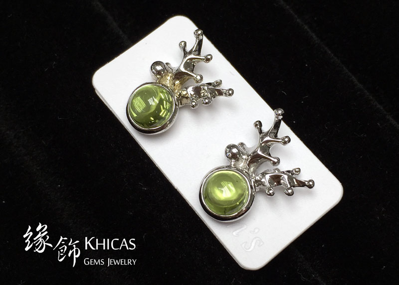 橄欖石 鹿角耳環 Peridot Earrings EA160162 @ Khicas Gems 緣飾