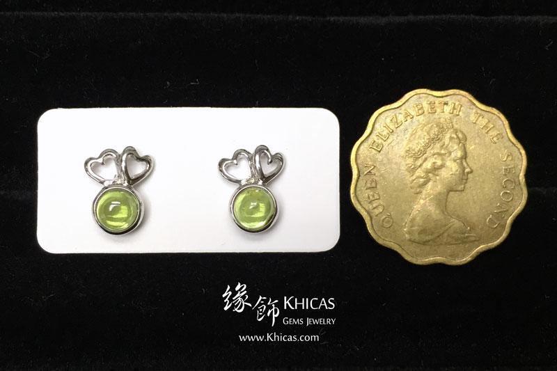 橄欖石 心心雙印耳環 Peridot Earrings EA160164 @ Khicas Gems 緣飾