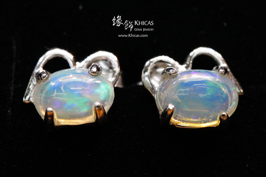 澳洲澳寶石(閃山雲)耳環 Opal Earrings EA160167 @ Khicas Gems 緣飾