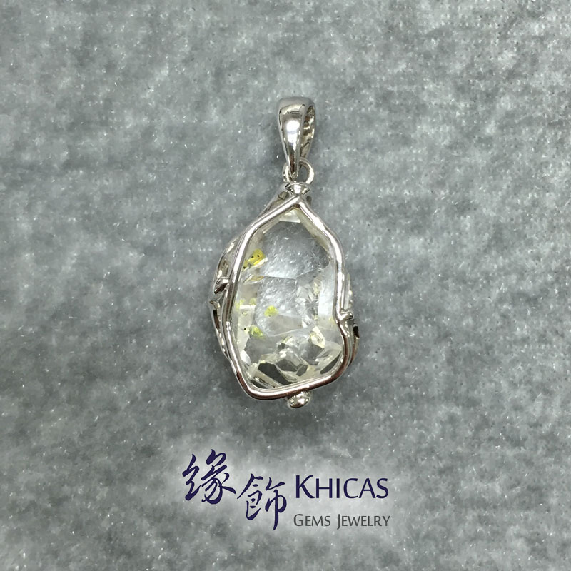 Petroleum Quartz / Golden Enhydro 水晶銀線吊墜 Pendant P1410019 @ Khicas Gems 緣飾