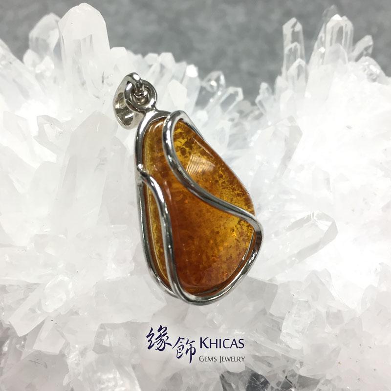 波羅的海琥珀銀線吊咀 Amber P1410084 Khicas Gems 緣飾