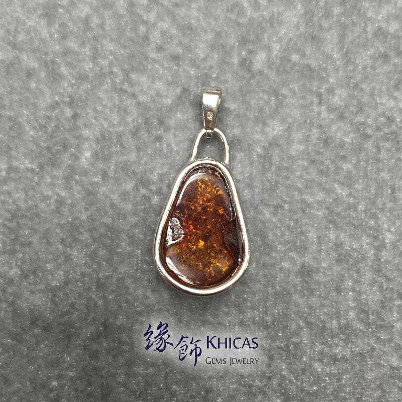 波羅的海琥珀銀線吊咀 Amber P1410085 Khicas Gems 緣飾