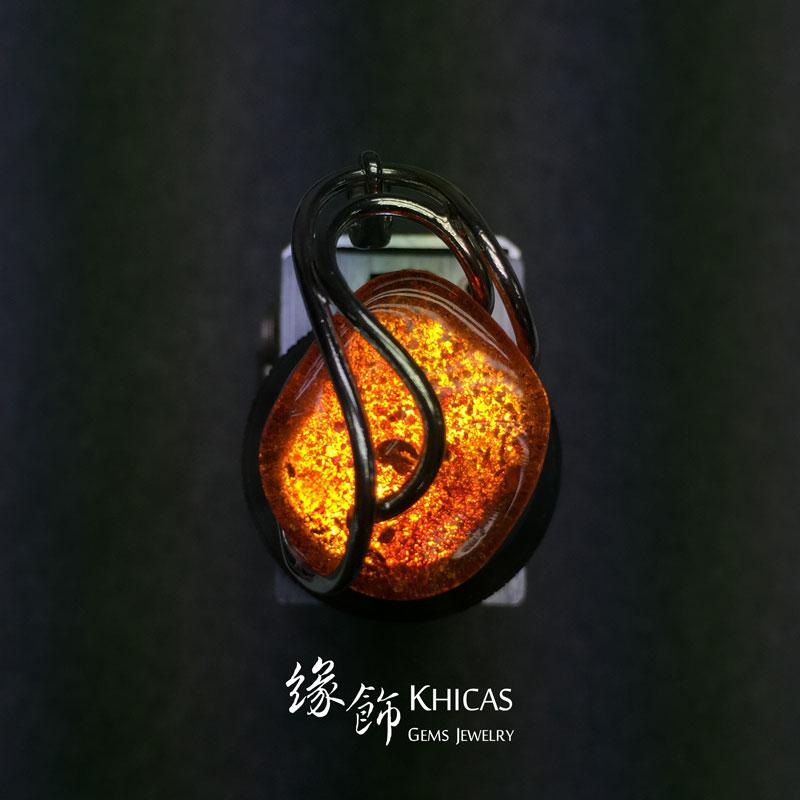 波羅的海琥珀銀線吊咀 Amber P1410087 Khicas Gems 緣飾