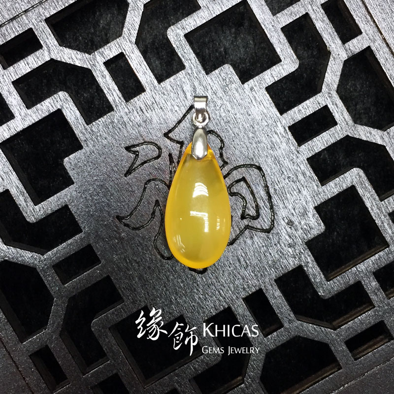 波羅的海蜜蠟水滴吊墜 Amber Pendant P1410088 Khicas Gems 緣飾