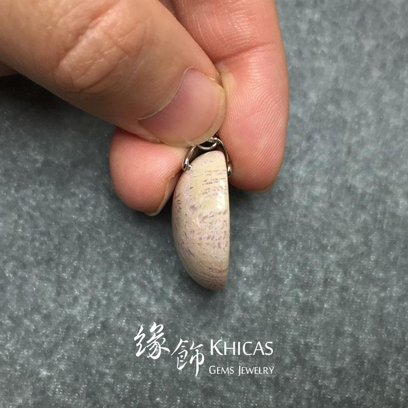 印尼 3A+ 珊瑚玉化石吊咀 Coral Jade Pendant P1410137 @ Khicas Gems 緣飾