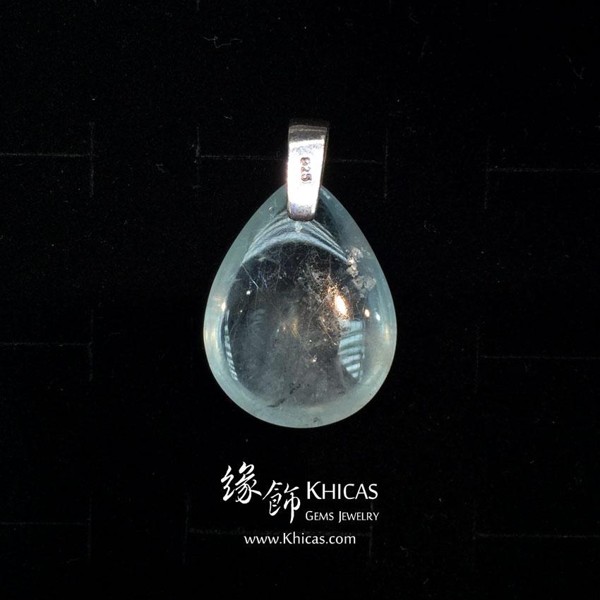 巴西 5A+ 玻璃種海藍寶吊墜 Aquamarine Pendant P1410192 @ Khicas Gems 緣飾