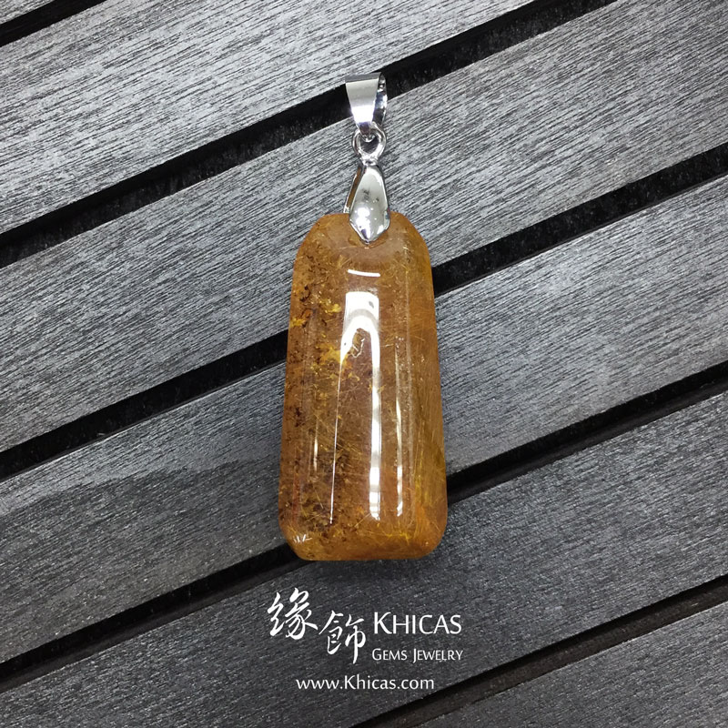 巴西金髮晶吊墜 Gold Rutilated Quartz Pendant P1410221 @ Khicas Gems 緣飾