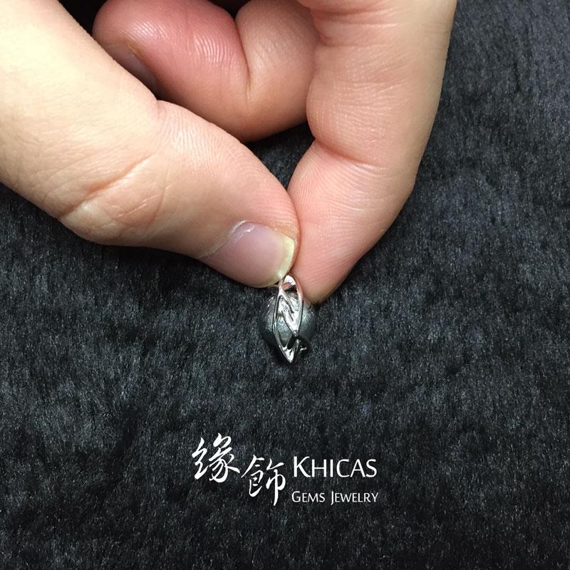 天鐵鎳鐵隕石圓珠 配大衛星銀線吊墜 Meteorite Pendant P1410260 @ Khicas Gems 緣飾
