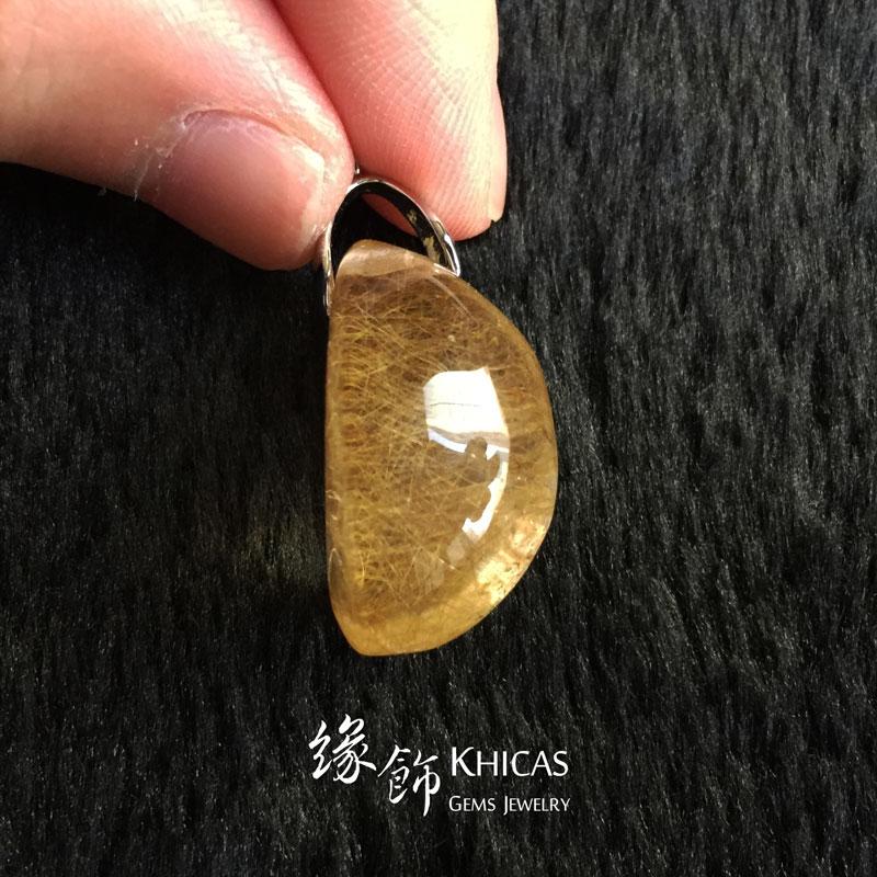 巴西金髮晶吊墜 Gold Rutilated Quartz Pendant P1410279 @ Khicas Gems 緣飾