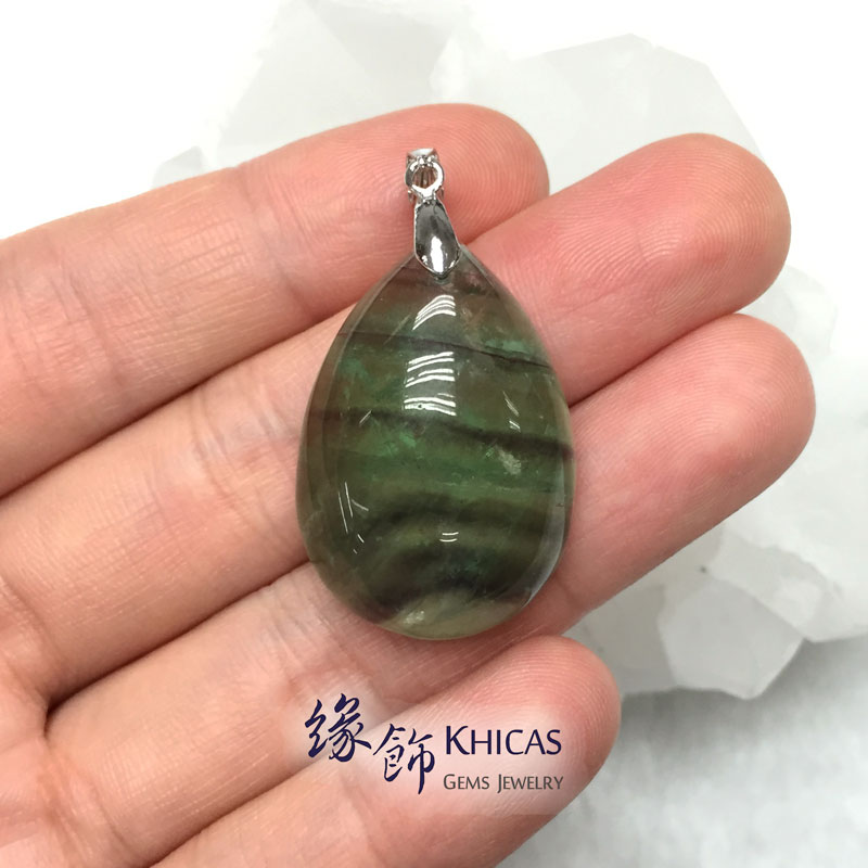 綠螢石水滴形吊墜 Fluorite Pendant P1410287 @ Khicas Gems 緣飾