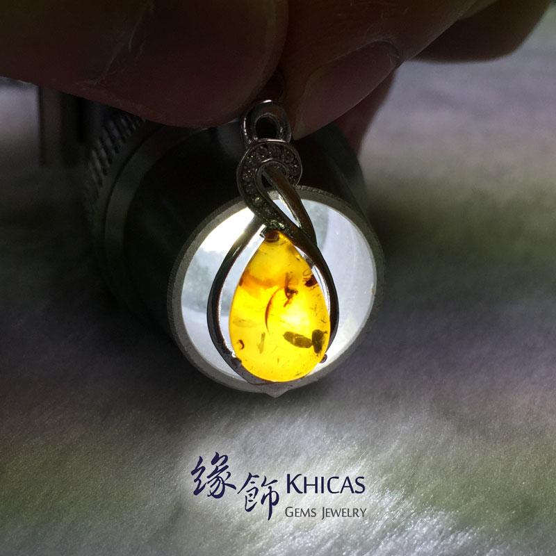 波羅的海琥珀 925 純銀吊墜 Amber Pendant P1410291 Khicas Gems 緣飾