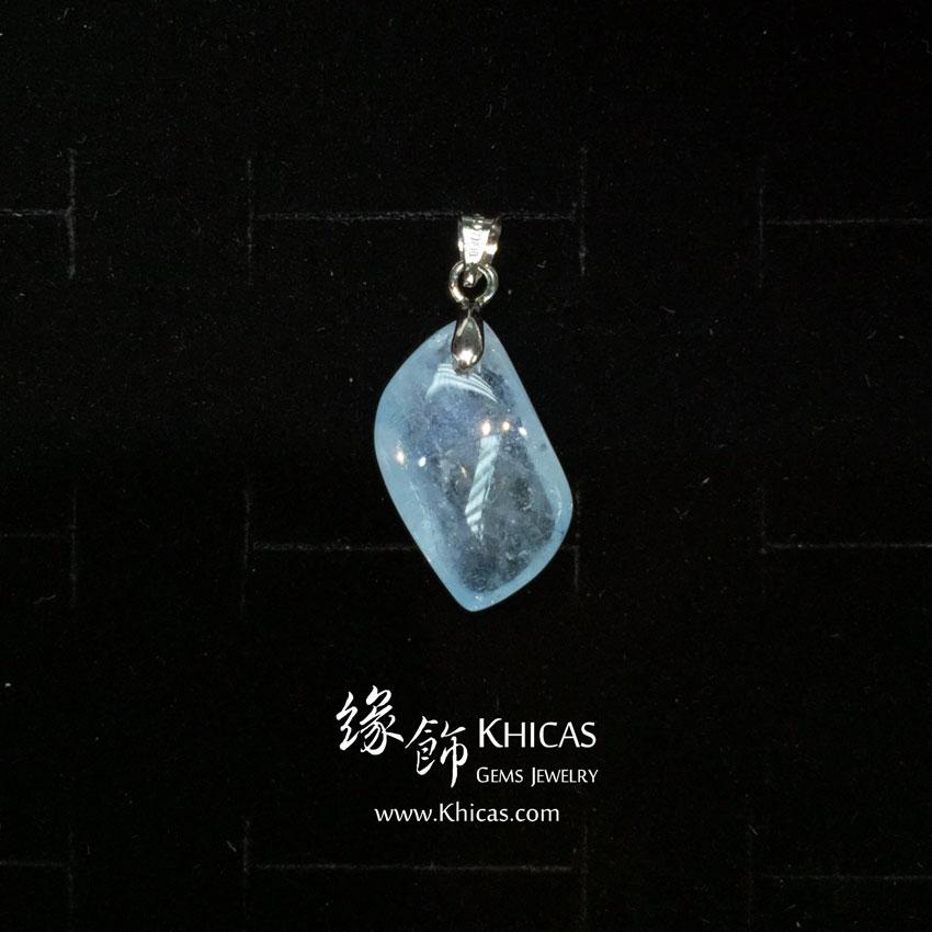 巴西 4A+ 海藍寶吊墜 Aquamarine Pendant P1410299 @ Khicas Gems 緣飾