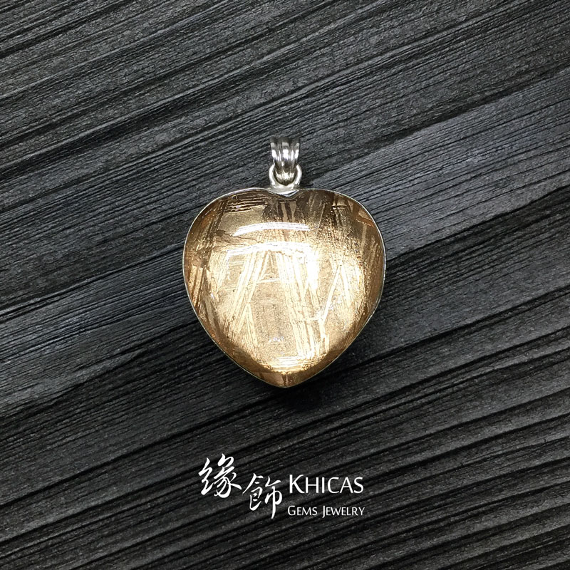 天鐵鎳鐵隕石 心形玫瑰金雙面包白水晶吊墜 Meteorite Pendant P1410348 @ Khicas Gems 緣飾