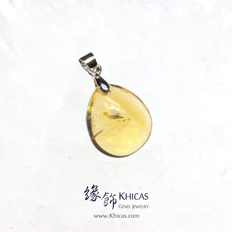 巴西黃晶水滴型吊墜 Citrine Pendant P1410674 @ Khicas Gems 緣飾
