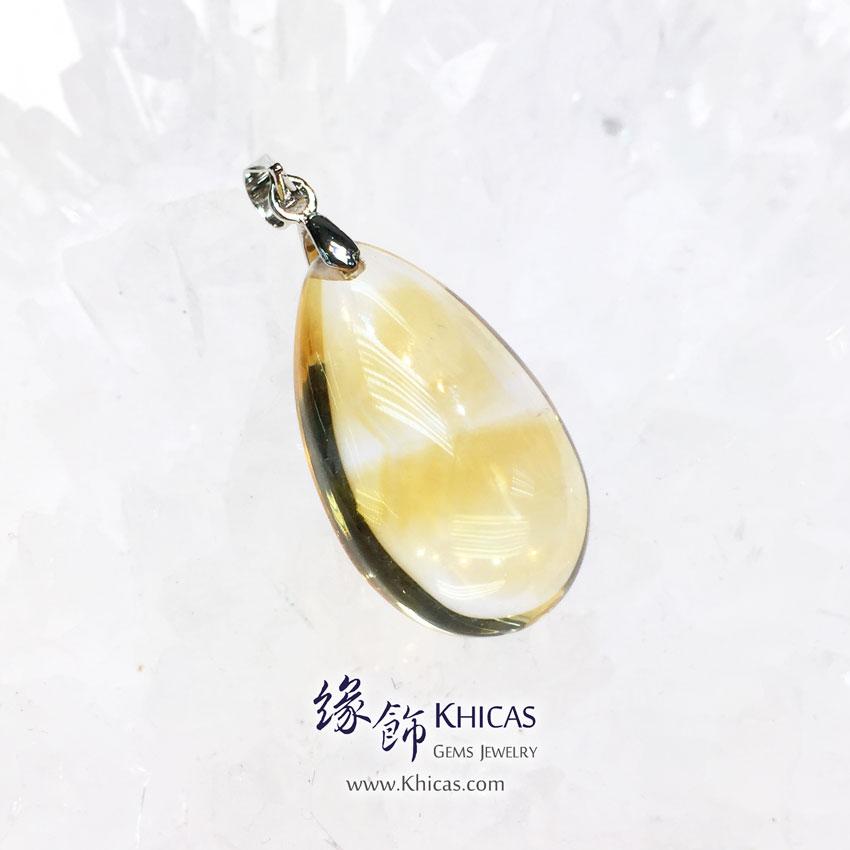 巴西黃晶水滴型吊墜 Citrine Pendant P1410677 @ Khicas Gems 緣飾