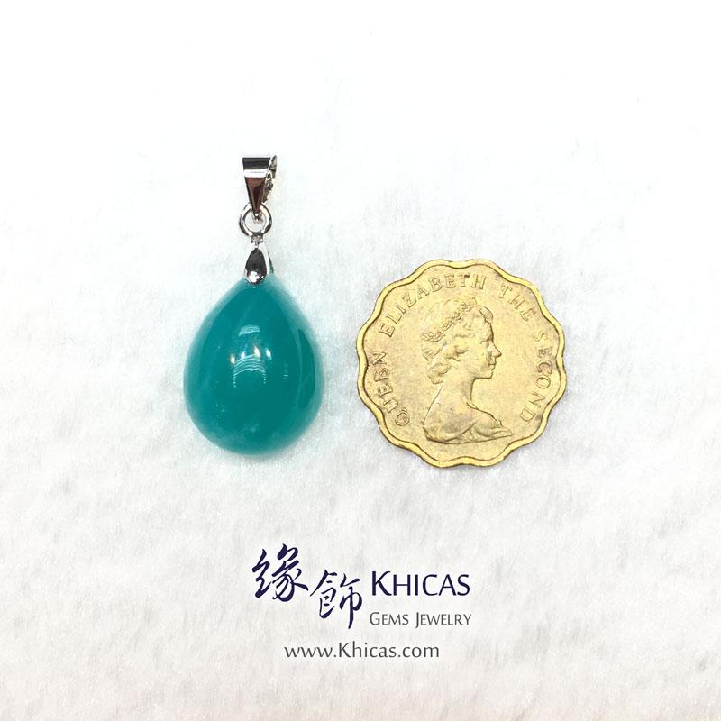 新疆 5A+ 冰種天河石吊墜 Amazonite Pendant P1410684 @ Khicas Gems 緣飾