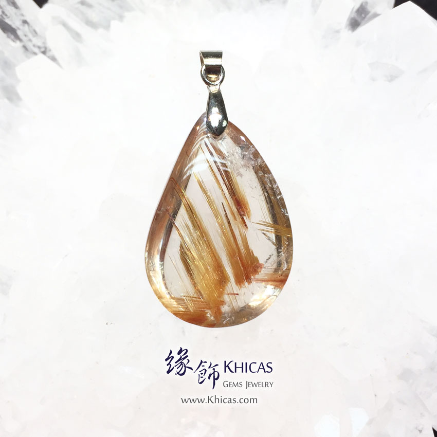 巴西 5A+ 金鈦晶吊墜 Gold Rutilated Quartz Pendant P1410962 @ Khicas Gems 緣飾