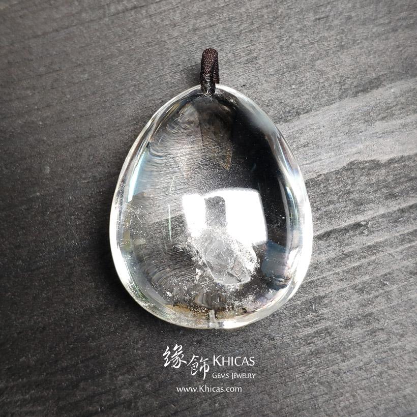 巴西 5A+ 白水晶 晶中晶吊墜 White Quartz Crystal Pendants P1410978 @ Khicas Gems Jewelry 緣飾天然水晶
