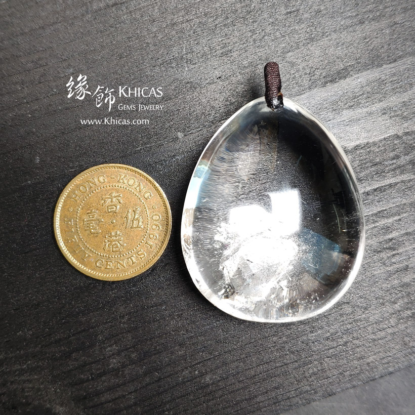 巴西 5A+ 白水晶 晶中晶吊墜 White Quartz Crystal Pendants P1410978 @ Khicas Gems Jewelry 緣飾天然水晶
