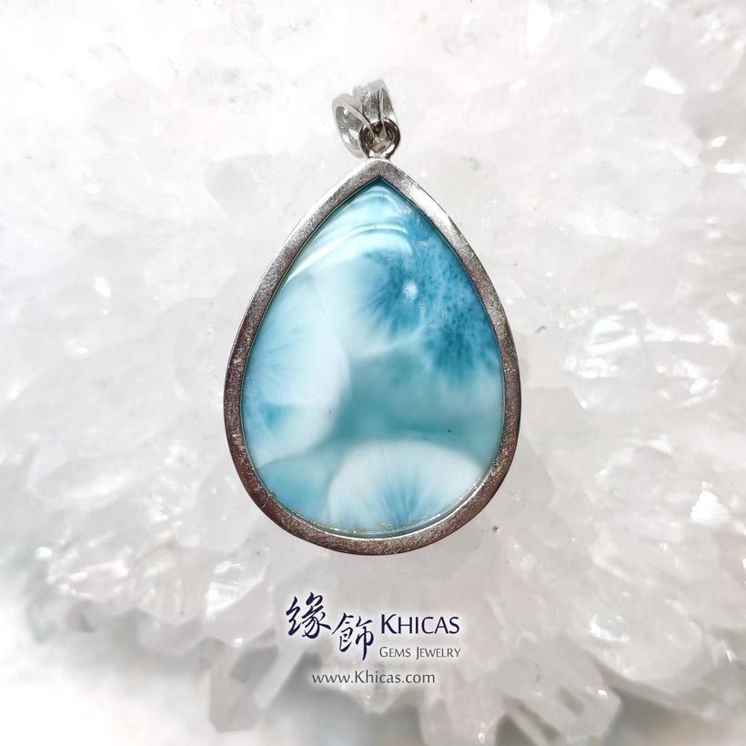 5A+ 拉利瑪石 / 針鈉鈣石 / 海紋石吊墜 Larimar Pendant P1411096 @ Khicas Gems Jewelry 緣飾天然水晶