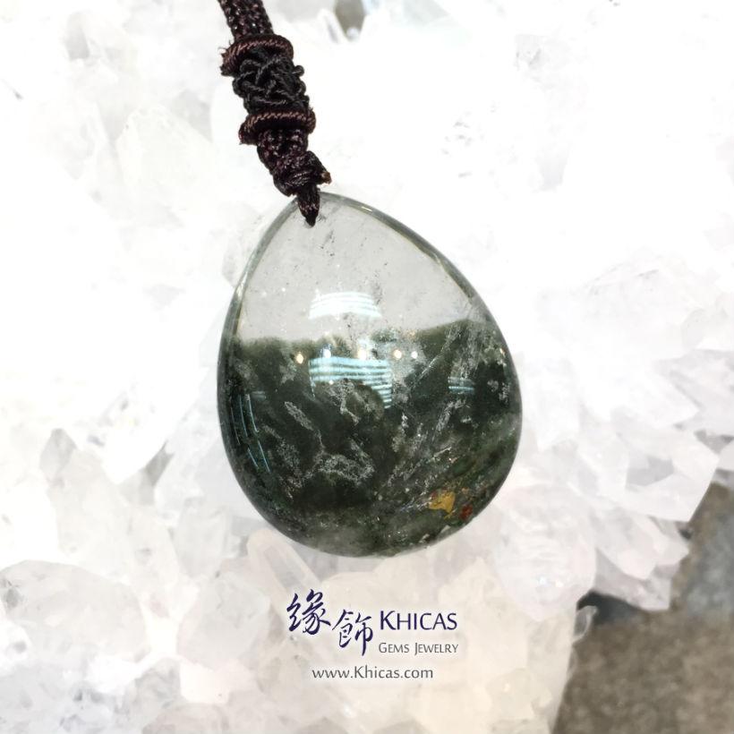 巴西綠幽靈吊墜(中) Green Phantom Pendant P1411145-4 @ Khicas Gems 緣飾天然水晶