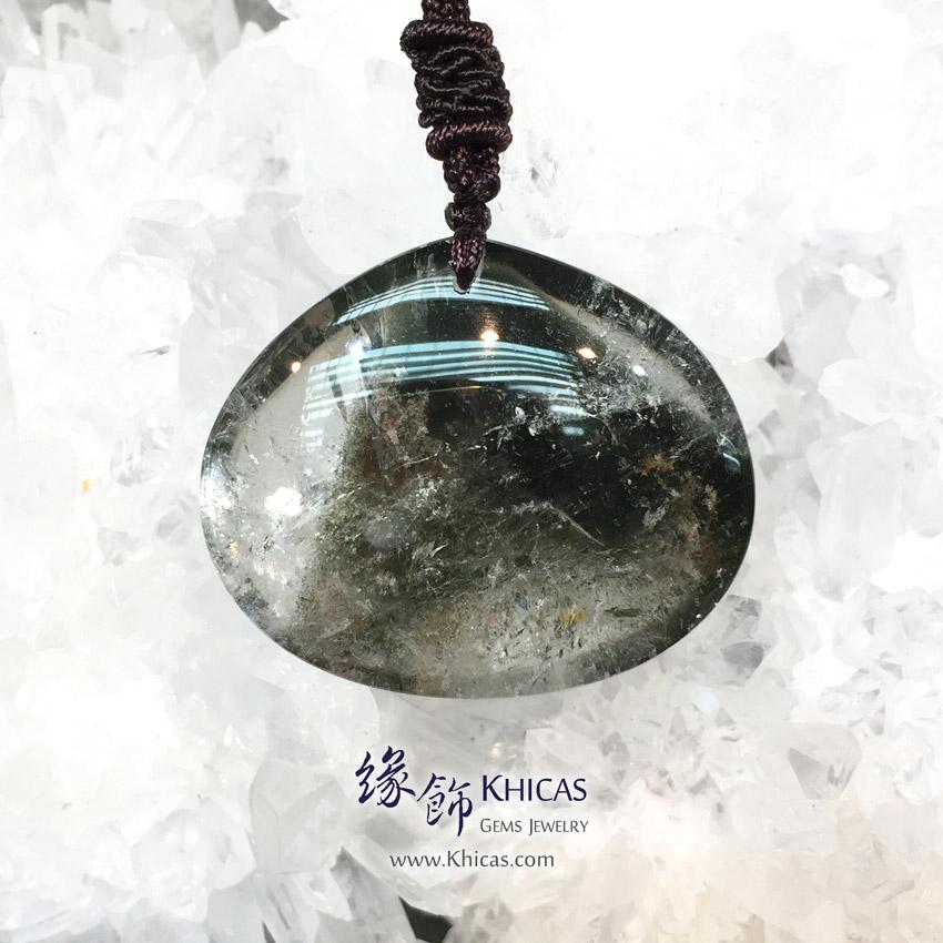 巴西綠幽靈吊墜(大) Green Phantom Pendant P1411146-1 @ Khicas Gems Jewelry 緣飾天然水晶