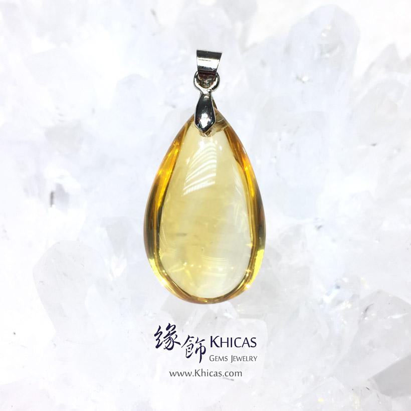 巴西黃晶水滴型吊墜 Citrine Pendant P1411299 @ Khicas Gems Jewelry 緣飾天然水晶