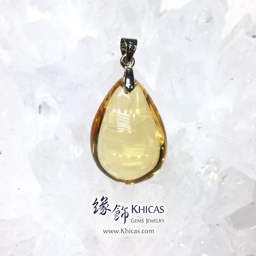 巴西黃晶水滴型吊墜 Citrine Pendant P1411301 @ Khicas Gems Jewelry 緣飾天然水晶