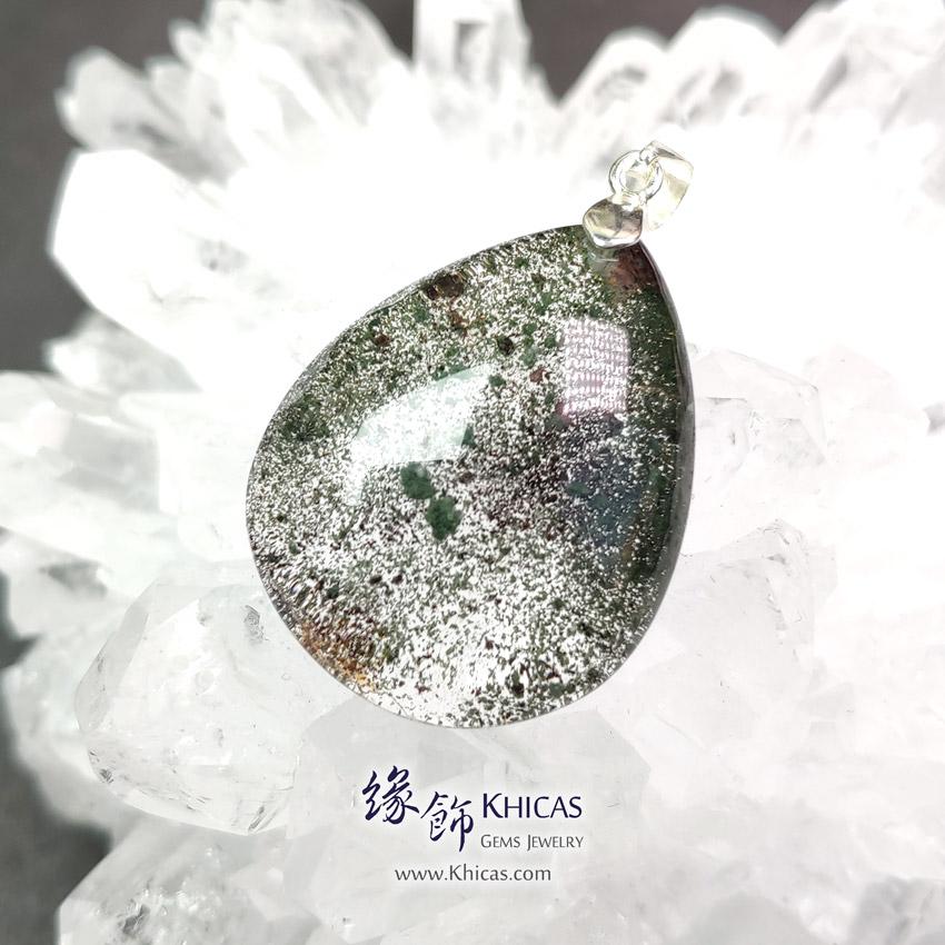 巴西綠幽靈吊墜 28.3x22.3x9mm Green Phantom Pendant P1411733 @ Khicas Gems Jewelry 緣飾天然水晶