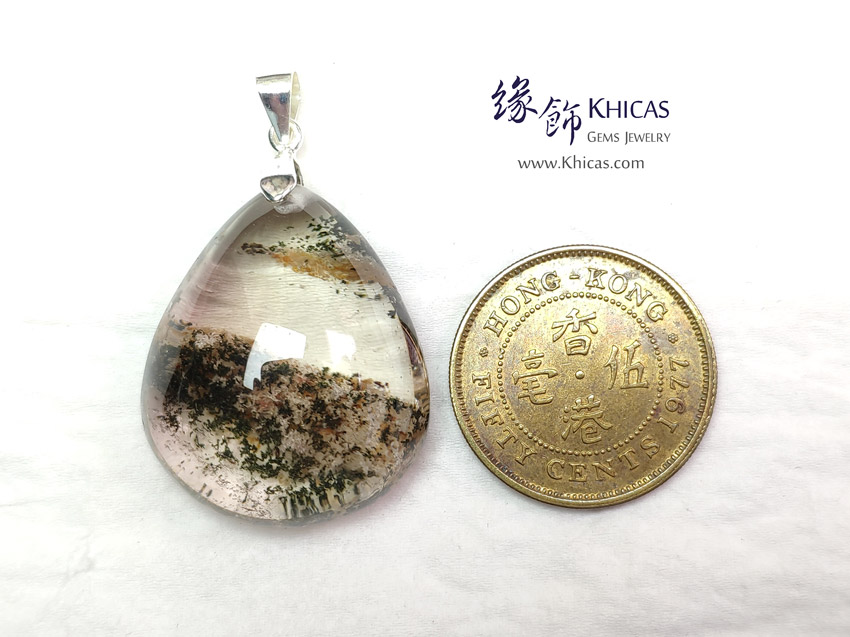 巴西 4A+ 彩幽靈吊墜 29.6x23.8x13.9mm Multi Colour Phantom Pendant P1411737 @ Khicas Gems Jewelry 緣飾天然水晶