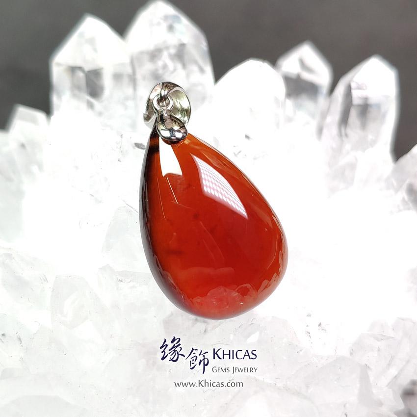 巴西 5A+ 玻璃種石榴石水滴形吊墜 17x24.7x8.2mm Orange Garnet Pendant P1411748 @ Khicas Gems Jewelry 緣飾天然水晶