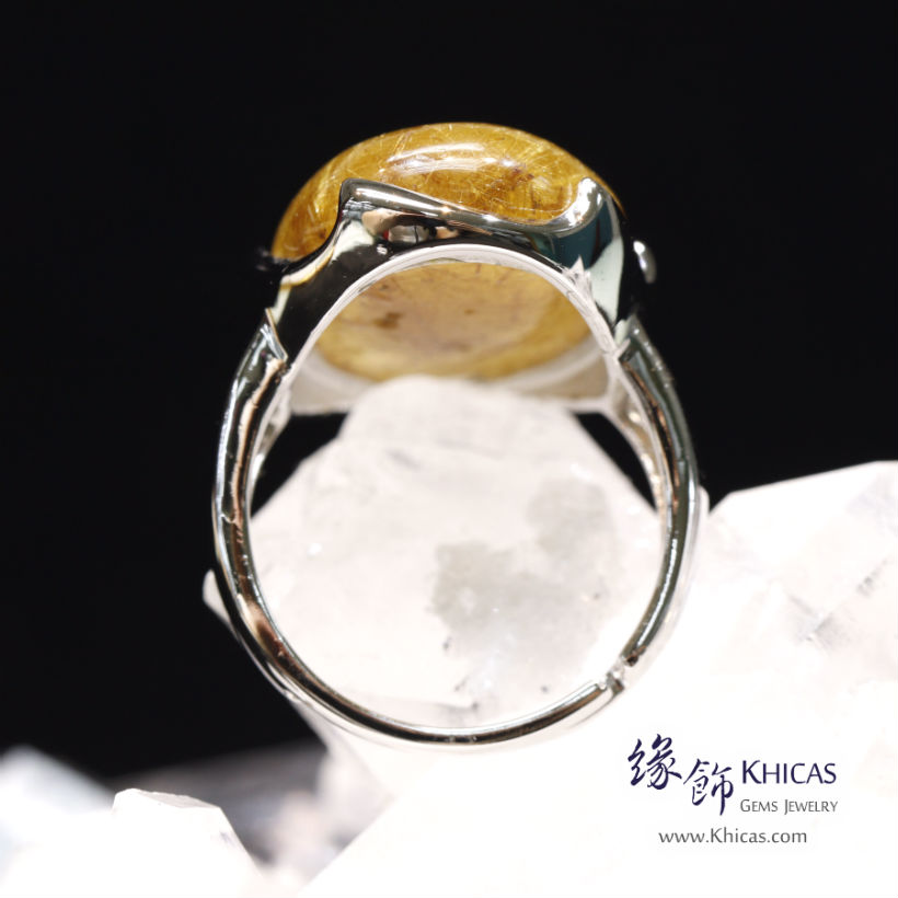 巴西金髮晶銀戒指 Gold Rutilated Quartz Rings RG17245 @ Khicas Gems Jewelry 緣飾天然水晶
